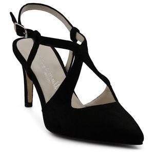 New Bettye Muller black suede heels Size 7.5